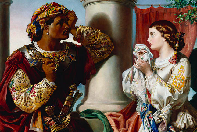 Othello and Desdemona, by Daniel Maclise. Image: Fine Art America