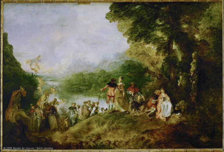Pélerinage à l'île de Cythère. Image: Musee du Louvre, Paris.