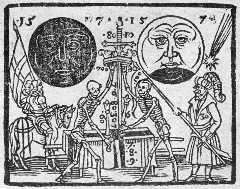 1607-skeletons with Halley's comet