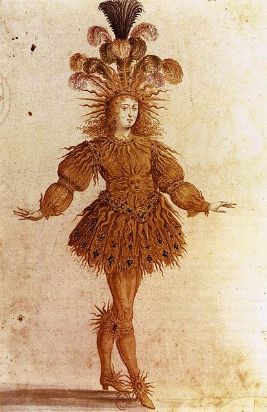 Louis XIV as the Sun in Le Ballet de la Nuit by Henri Gissey, 1653. Bibliothèque nationale de France.