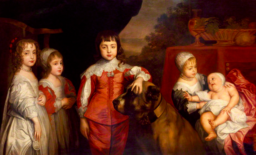 Five Children of King Charles I after Sir Anthony Van Dyck. Image: National Portrait Gallery, London.