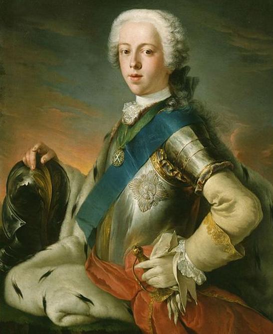 "James II's grandson, Charles Edward Stuart, ""Bonnie Prince Charlie""."