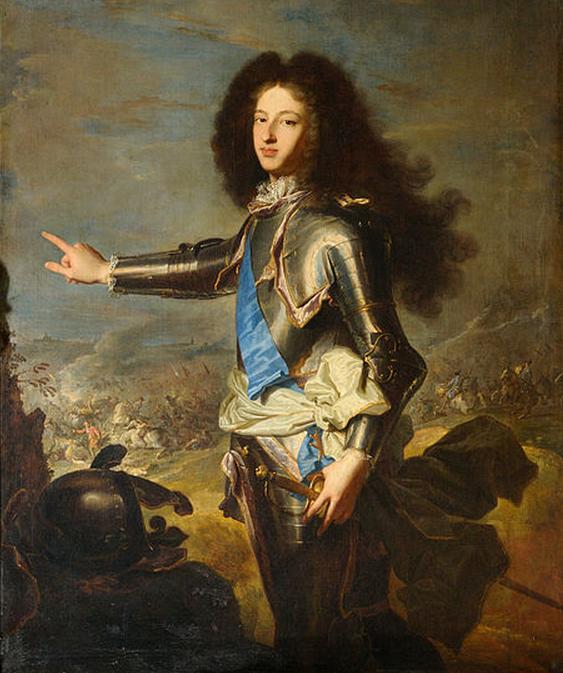 Louis de France, duc de Bourgogne (1682-1712). Painting: Hyacinthe Rigaud (1659–1743). Palais de Versailles.