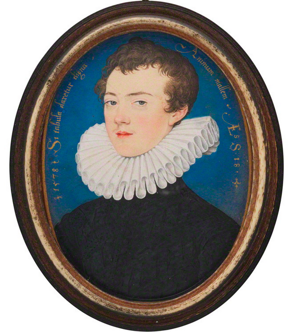 Francis Bacon, Viscount St Alban by Nicholas Hilliard, 1578. © The National Portrait Gallery, London
