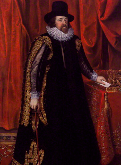 Francis Bacon, Viscount St Alban by Unknown artist oil on canvas, after 1731 (circa 1618). © The National Portrait Gallery, London.