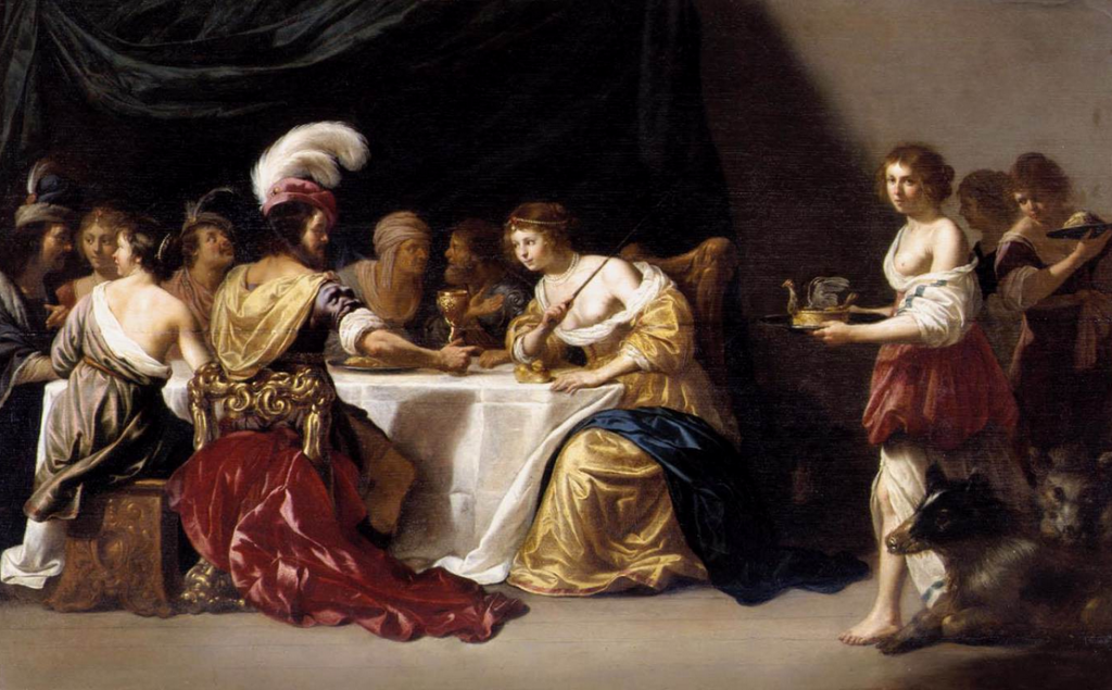 BIJLERT, Jan van Ulysses and Circe. Oil on panel, 51 x 81 cm Private collection, Web Gallery of Art.