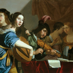 "BIJLERT, Jan van. ""Musical Company"" Oil on panel, 97 x 115 cm. Private collection, via Web Gallery of Art"