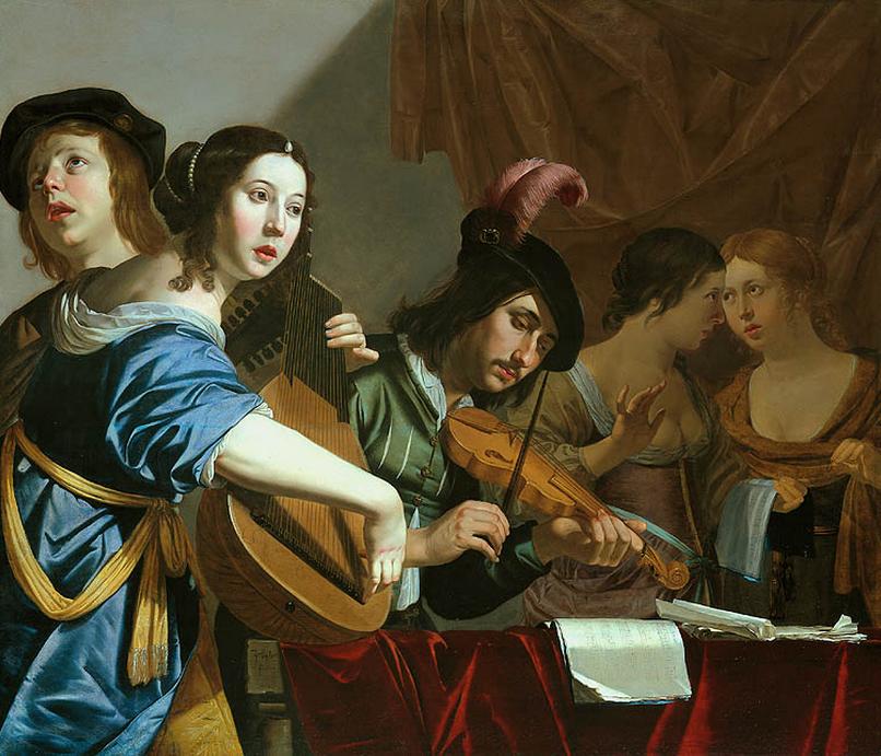 "BIJLERT, Jan van. ""Musical Company"" Oil on panel, 97 x 115 cm. Private collection, via Web Gallery of Art"