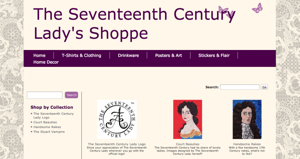 The Seventeenth Century Lady's Shoppe
