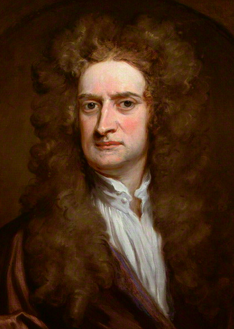Sir Isaac Newton by Sir Godfrey Kneller, Bt oil on canvas, feigned oval, 1702. © The National Portrait Gallery, London