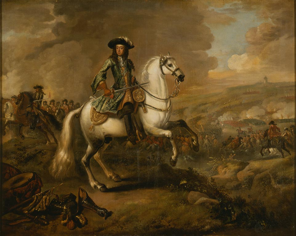 William III at the Battle of the Boyne by Jan Wyck. © Government Art Collection