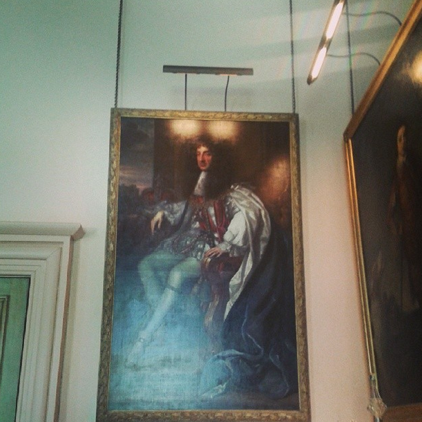 To the left of this is a painting of King Charles II.