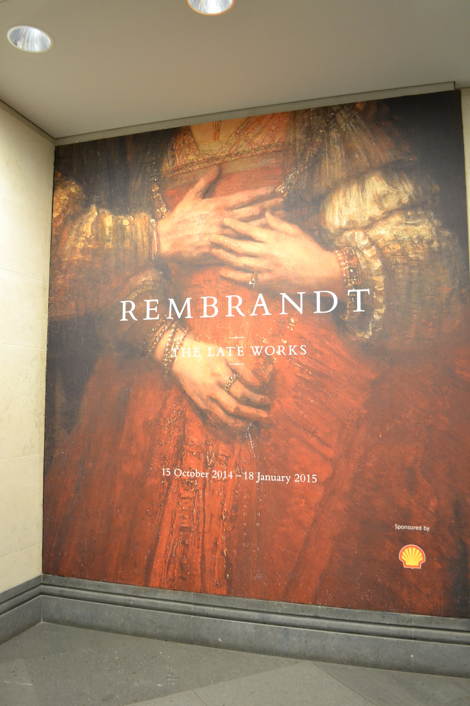 Rembrandt Exhibition Shell : Anti shell demonstration disrupts rembrandt exhibition editorial