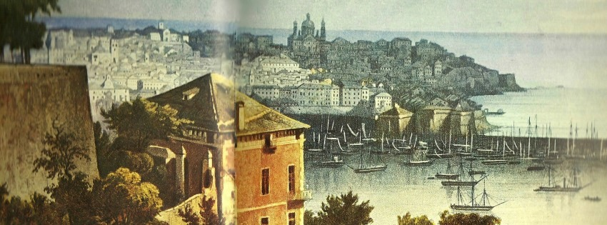 Old Image of Genoa and its Harbor