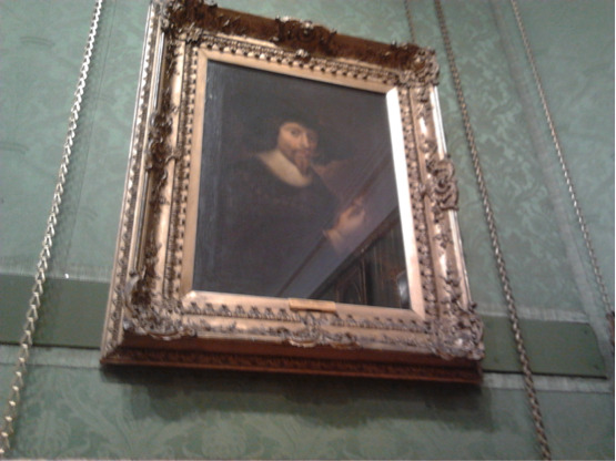 Self-portrait holding a miniature portrait of his wife, Aberdeen Art Gallery