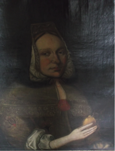 Portrait known as Mary Jamesone 'Bonny Mary' (detail), Aberdeen Art Gallery