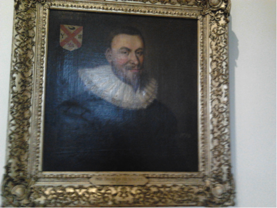 Sir Thomas Burnett of Leys, just one of the many portraits belonging to the University of Aberdeen, currently on display in the Town House on campus