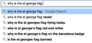 Sad example of how autocompletes show inherent belief in the flag being racist