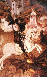 MARTORELL, Bernat Saint George Killing the Dragon 1430-35 Tempera on wood, 141 x 96 cm Art Institute, Chicago, Web Gallery of art